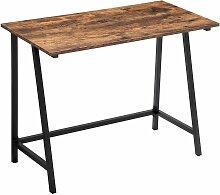 Bureau métal bois 100x 50x 75 cm