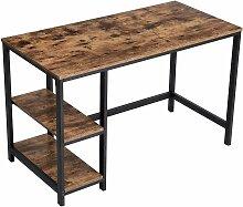 Bureau métal bois 120x60xH75 cm