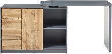 Bureau modulable avec rangement placage chêne et