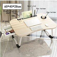 Bureau pliable pour ordinateur Portable, lit,