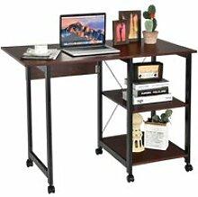 Bureau pliable pour ordinateur, table de travail