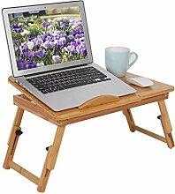 Bureau pour ordinateur portable en bambou avec