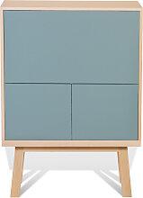 Bureau secrétaire en bois bleu briac