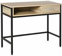 Bureau style industriel casier + tiroir coulissant