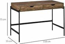Bureau style industriel dim. 110L x 55l x 75H cm