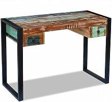 Bureau table meuble travail informatique bois de