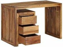 Bureau table meuble travail informatique bois