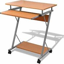 Bureau table meuble travail informatique brune