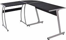 Bureau table meuble travail informatique de coin