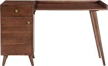Bureau vintage avec rangement acacia massif L130