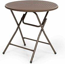 Burgos Round Table de jardin pliante Ø 80cm