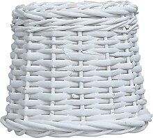 Butifooy Abat-Jour Osier 20x15 cm Blanc