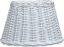 Butifooy Abat-Jour Osier 45x28 cm Blanc