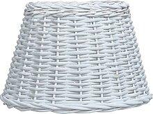 Butifooy Abat-Jour Osier 50x30 cm Blanc