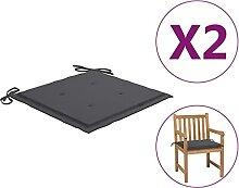 Butifooy Coussins de Chaise de Jardin 2 pcs