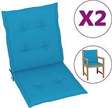 Butifooy Coussins de Chaise de Jardin 2 pcs Bleu