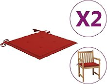 Butifooy Coussins de Chaise de Jardin 2 pcs Rouge