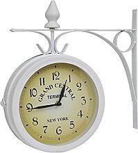 Butifooy Horloge Murale à Deux côtés Design