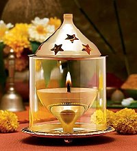 Buycrafty Akhand Diya décoratifs Laiton lampe à
