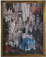 by Unbranded Panneau en bois encadré rétro Paris