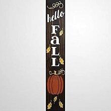 by Unbranded Panneau en bois Hello Fall Porch Sign