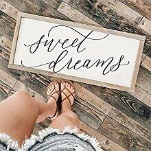 by Unbranded Sweet Dreams Panneau en bois encadré
