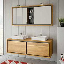 Byca - Armoire de toilette suspendue 140 cm - Dom