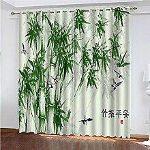 BZZJHZHJDF 2 Pièces Draperies à Oeillets Bambou