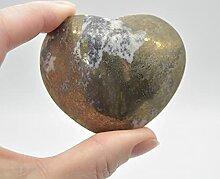 Cœur en pyrite - 174 grammes - 5 cm x 6 cm x 3 cm