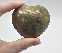 Cœur en pyrite - 182 grammes - 6 cm x 5 cm x 3 cm