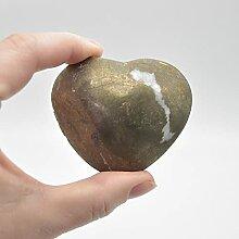 Cœur en pyrite - 213 grammes - 6 cm x 5 cm x 3 cm