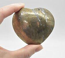 Cœur en pyrite – 230 grammes – 5,5 cm x 6,5