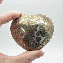 Cœur en pyrite - 234 grammes - 5 cm x 6 cm x 3 cm