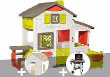 Cabane enfant Neo Friends House + Lampe solaire +