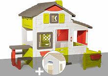 Cabane enfant Neo Friends House + Lampe solaire -