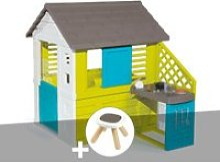 Cabane enfant pretty + cuisine d'été - smoby