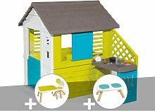 Cabane enfant Pretty + Cuisine d'été + Table