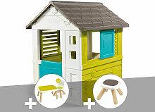Cabane enfant Pretty + Table et 2 chaises +