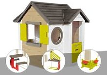 Cabane enfant smoby my new house + table pique
