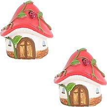 Cabilock 2 Pièces Miniature Maison de Champignon
