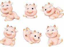Cabilock 6 Pcs Mini Animaux Vaches Figurines