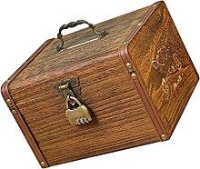 Cabilock Boîte de Coffre Au Trésor en Bois