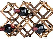 Cabilock Casier à Vin en Bois Pliable Porte- de