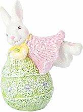 Cabilock Figurine de lapin de Pâques en résine -