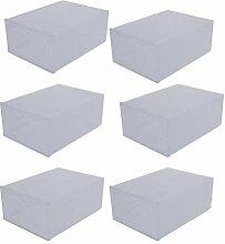 Cabilock Lot de 6 boîtes de rangement à