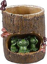 Cabilock Pot de fleurs décoratif en résine -