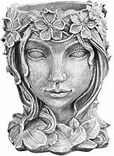Cabilock Pot de fleurs en résine - Tête de fleur
