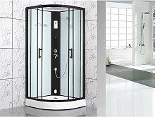 Cabine de douche à leds fonction Hammam SOLTA - L