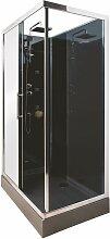 Cabine de douche HYDRO DELLINE NOIRE 80X120