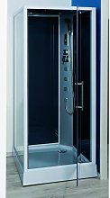 Cabine de douche hydromassante grise 90x90 cm Niky
